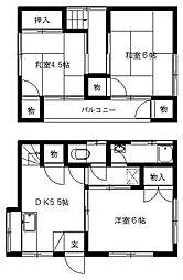[一戸建] 福岡県大野城市東大利3丁目 の賃貸【/】の間取り