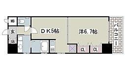 プレジール三ノ宮2[808号室]の間取り