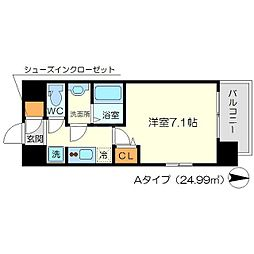 リッツ新大阪[10階]の間取り