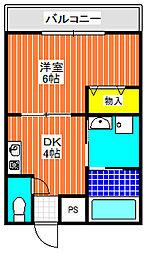 昌和富木[101号室]の間取り