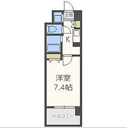 レジュールアッシュ梅田イースト[12階]の間取り