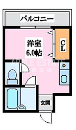 エスポアール春日Ⅱ[2階]の間取り