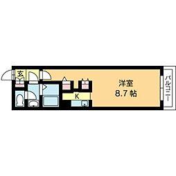 北海道札幌市北区北十八条西3丁目の賃貸マンションの間取り