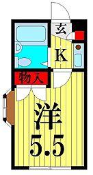 埼玉県越谷市大房の賃貸マンションの間取り