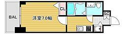 エスレジデンス難波ブリエ 11階1Kの間取り