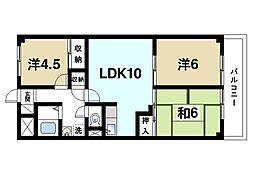 奈良県奈良市芝辻町2丁目の賃貸マンションの間取り