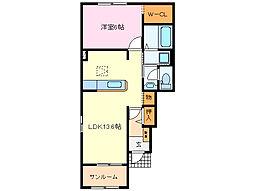 近鉄山田線 斎宮駅 徒歩23分の賃貸アパート 1階1LDKの間取り