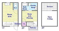 JR東海道・山陽本線 垂水駅 徒歩4分の賃貸アパート 1階1LDKの間取り