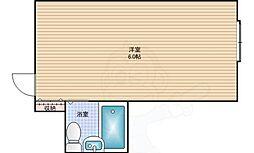 Osaka Metro中央線 九条駅 徒歩6分の賃貸マンション 10階ワンルームの間取り