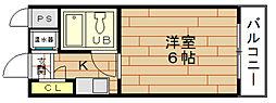 ビバリーヒルズ本田西[9階]の間取り