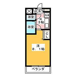 KII−OKASAN B.二番館[5階]の間取り
