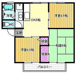 サンビレッジ寺田[1階]の間取り