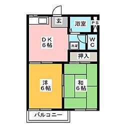 フォーブル相羽 B棟[2階]の間取り