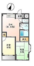 東京都日野市多摩平6丁目の賃貸マンションの間取り