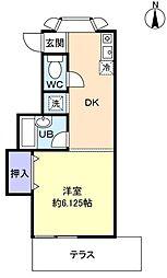 クレスト池田壱番館[1階]の間取り