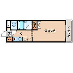 奈良県奈良市東城戸町の賃貸マンションの間取り