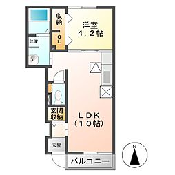 アプレンデールIII[1階]の間取り