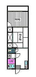 コーポ藤川[102号室]の間取り