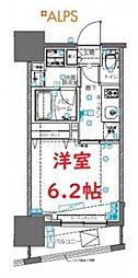 ZOOM横浜桜木町 2階1Kの間取り