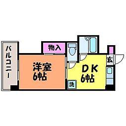 愛媛県松山市木屋町3丁目の賃貸マンションの間取り