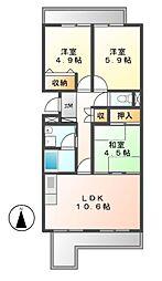 パークハウスYAGUMA[6階]の間取り