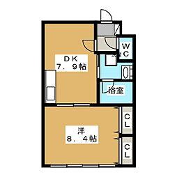 カーサ御所西[2階]の間取り