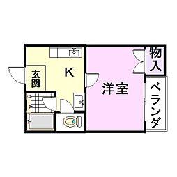 YANO本庄ハイツ[3階]の間取り