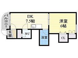 宮の森KTマンション[201号室]の間取り