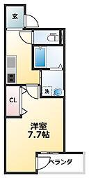 Osaka Metro御堂筋線 あびこ駅 徒歩6分の賃貸アパート 1階1Kの間取り