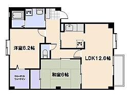 フォブール上田[1階]の間取り