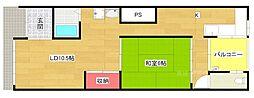 [一戸建] 大阪府大阪市西区九条3 の賃貸【/】の間取り