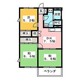 Ceres萩山 B棟[2階]の間取り