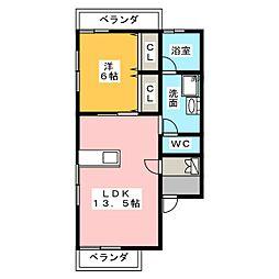 エスティアム高針台[2階]の間取り