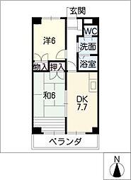 モラリス豊[4階]の間取り