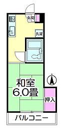 メゾン竹ノ塚[202号室]の間取り