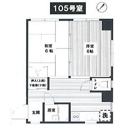 神奈川県横浜市西区赤門町2丁目の賃貸マンションの間取り