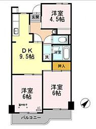 パールマンション[402号室号室]の間取り