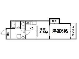 京都ノーザンフラット[4階]の間取り