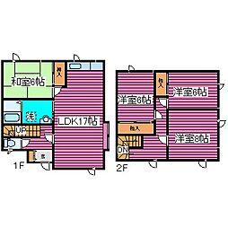 [一戸建] 北海道札幌市北区新琴似一条3丁目 の賃貸【/】の間取り