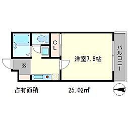 ラ・ヴィ松ヶ崎[3階]の間取り