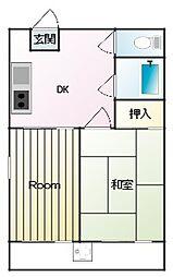 第一岡本ビル[3階]の間取り
