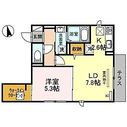 大阪府大阪市住吉区清水丘3丁目の賃貸アパートの間取り