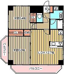 東京都武蔵野市御殿山1丁目の賃貸マンションの間取り
