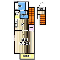 グリーンコートT[2階]の間取り