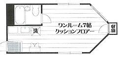 グリーンハウス[301号室]の間取り