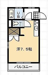 エスポワール鶴島[203号室]の間取り