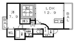 Forest南植松(フォレスト)[303号室号室]の間取り