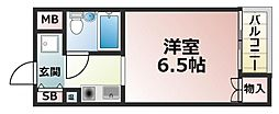 ロイヤルアーク八戸ノ里[3階]の間取り