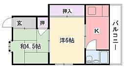 リック松籟荘[101号室]の間取り
