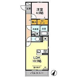 (仮)D-roomふじみ野4丁目[3階]の間取り
